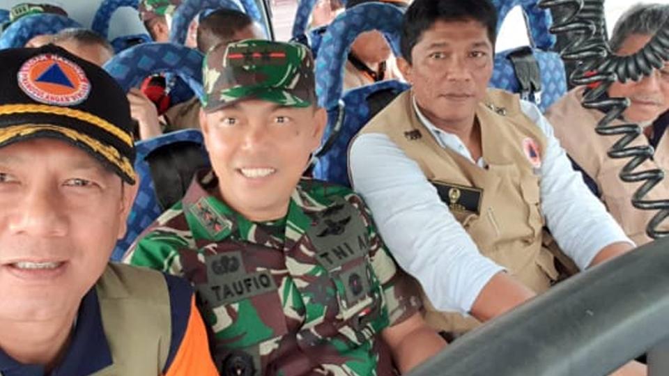 Doni Tiba di Lokasi Pengungsi Gempa Halmahera Selatan