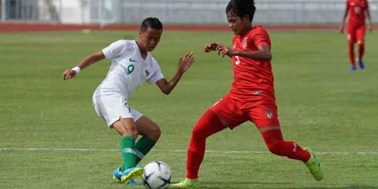 Laga timnas putri Indonesia vs Myanmar pada AFF Women's Championship Thailand, Jumat (16/8/2019)–foto dok pssi.org
