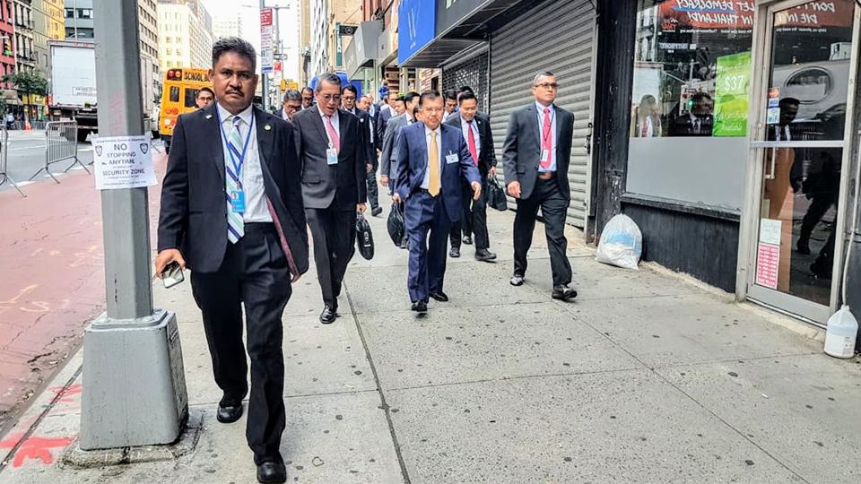 Wapres JK Selalu Jalan Kaki ke Markas PBB di New York
