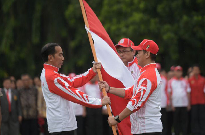 Jokowi  Minta Kontingen Indonesia Raih Rangking Dua SEA Games