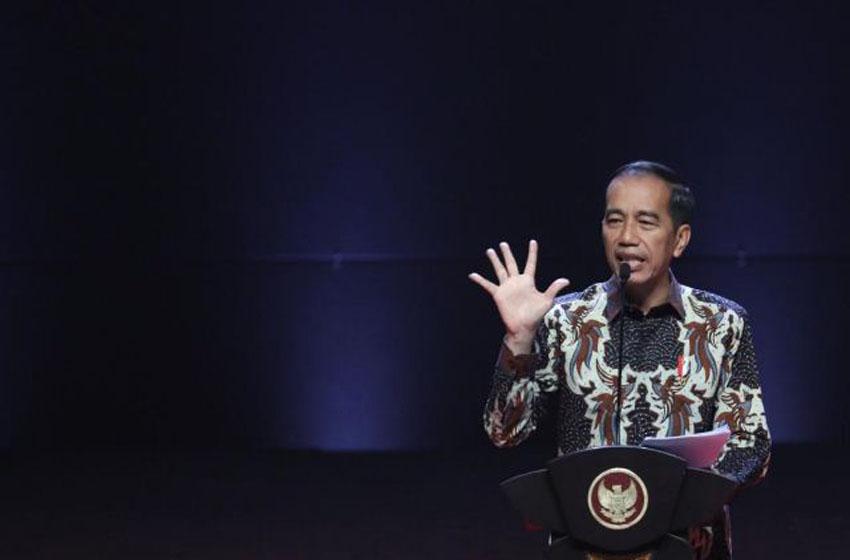 Presiden Joko Widodo membuka Rakornas Indonesia Maju Pemerintah Pusat dan Forkopimda di Sentul International Convention Center (SICC), Bogor, Jawa Barat, Rabu (13/11/2019)—puspen kemendagri