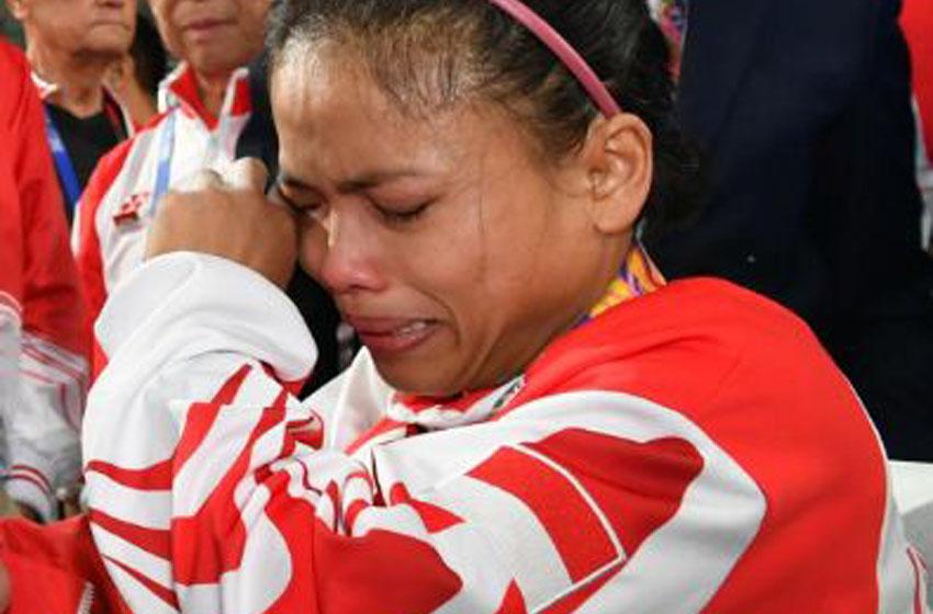 Tangisan Pilu Lisa Gagal Persembahkan  Medali Emas