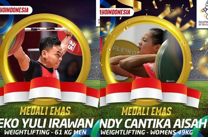 Lifter Junior Windy Cantika Pecahkan Rekor Dunia Sekaligus Persembahkan Emas untuk Indonesia