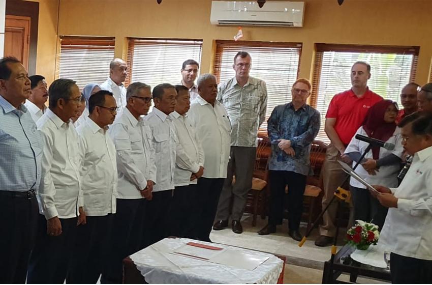 Ketua Umum PMI, Jusuf Kalla, Jusuf Kalla melantik pengurus PMI 2019 – 2024. (foto: ist)