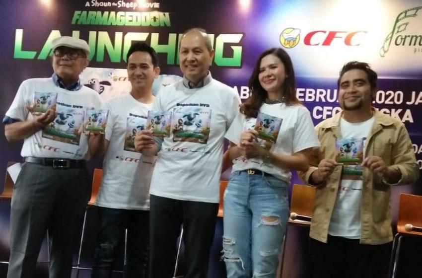 Pengamat film Yan Wijaya, Hari Sampurna dari Formula, Mitchelle Joan dan Abdul –foto sekhu