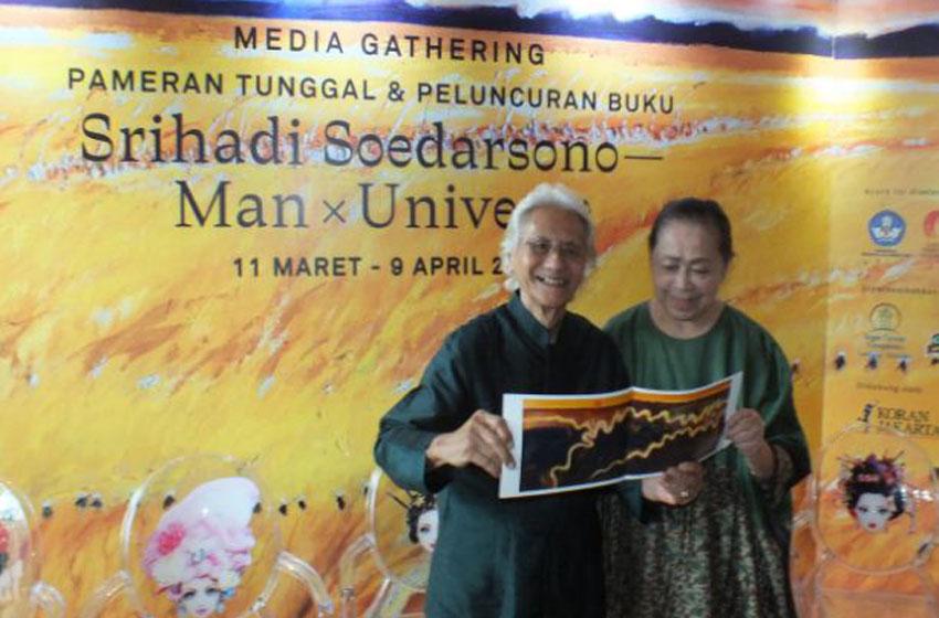 Srihadi Soedarsono dan isteri, Farida –foto Ilo