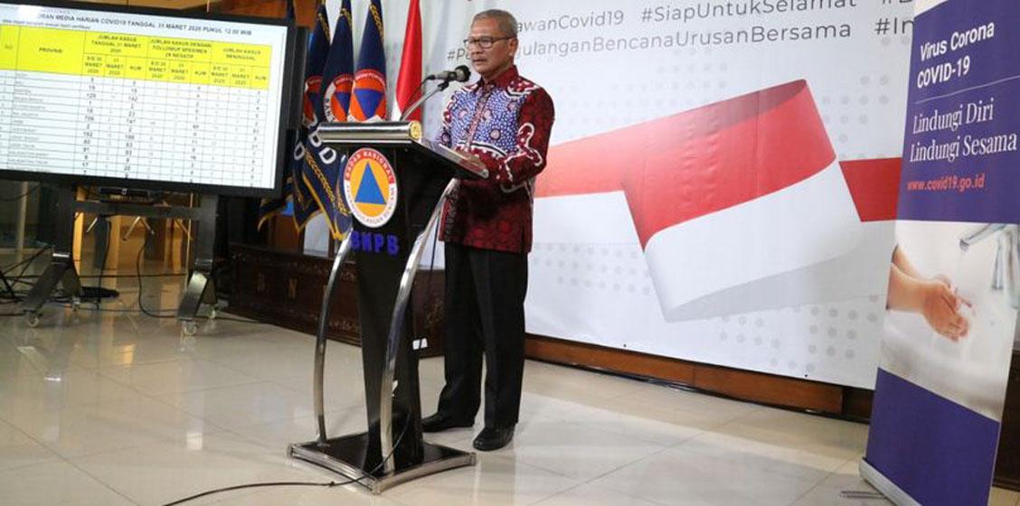 Juru Bicara Pemerintah terkait Penanganan Covid-19 Achmad Yurianto. (Humas BNPB/M Arfari Dwiatmodjo)