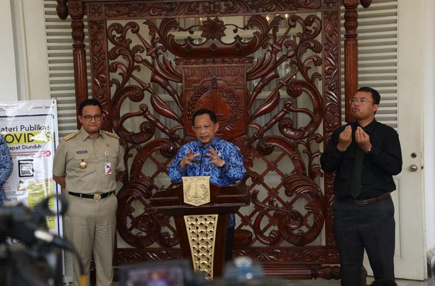 Temui Gubernur DKI, Mendagri Pastikan Koordinasi Pengendalian Penularan Covid-19 Berjalan Baik