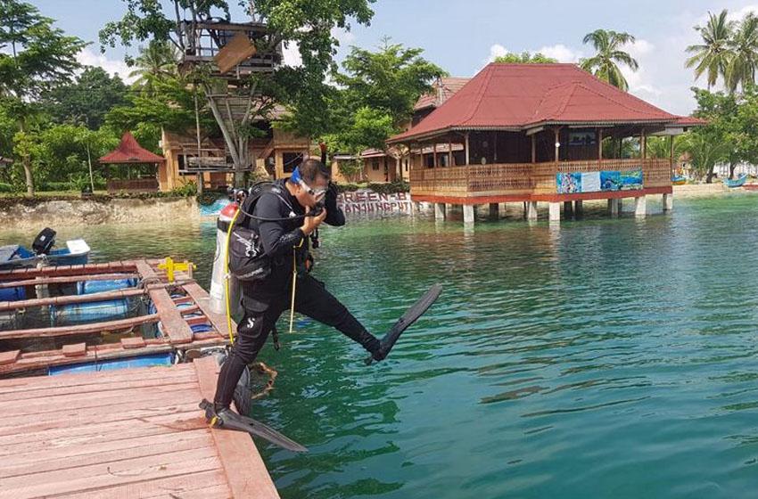 Salah satu aktivitas Corona Diving Club Lampung–foto istimewa