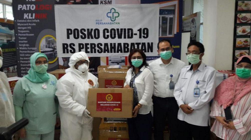 BIN Berikan Bantuan Alkes Penanganan Covid 19 ke RS Persahabatan Jakarta