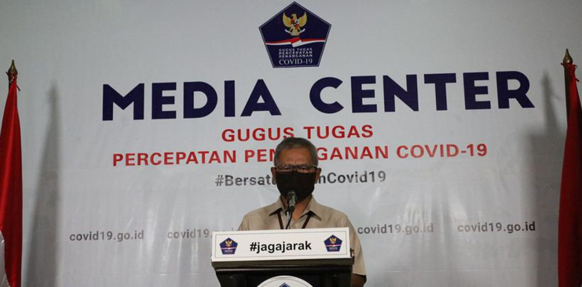 Juru Bicara Pemerintah terkait Penanganan Covid-19 Achmad Yurianto—foto Humas BNPB/M Arfari Dwiatmodjo