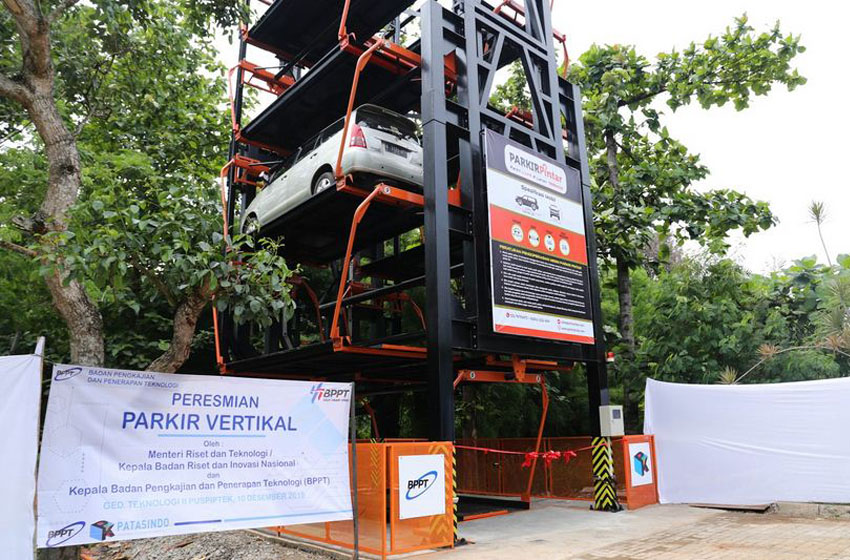 Vertikal Parking  Karya BPPT Solusi Lahan Terbatas