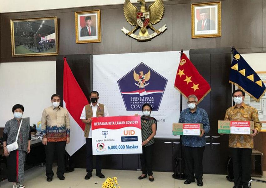UID  Donasi 6 Juta Masker untuk Hadapi Pandemi Covid 19