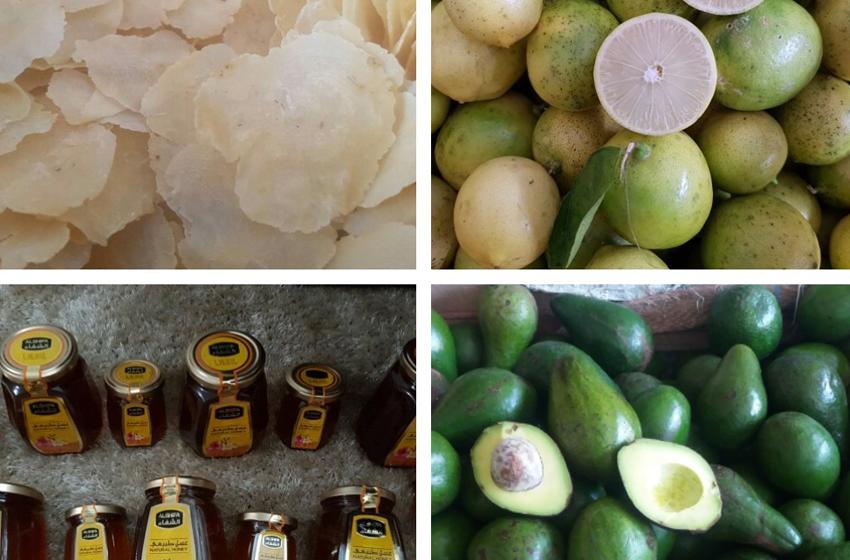 Produk jualan online Dina Savana,  tampak emping, lemon lokal, madu dan Alpokat. Kontak Dina 0813-7087-5141. (Foto. Ist)