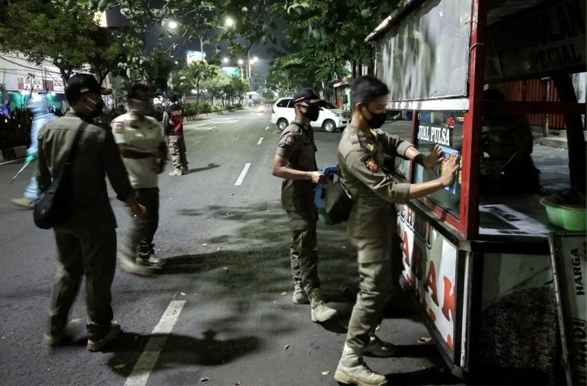 Ratusan Pelanggar Jam Malam Ditindak