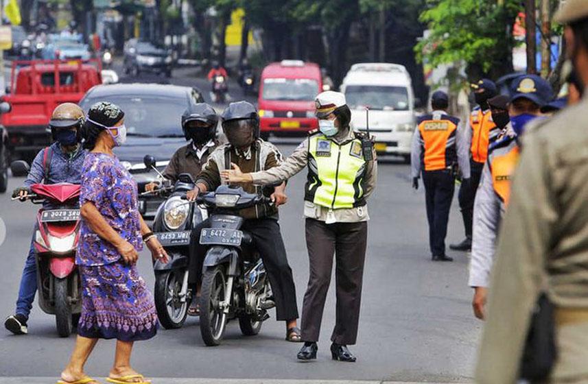 Ilustrasi– Situasi PSBB di Jakarta–foto beritasatu.com