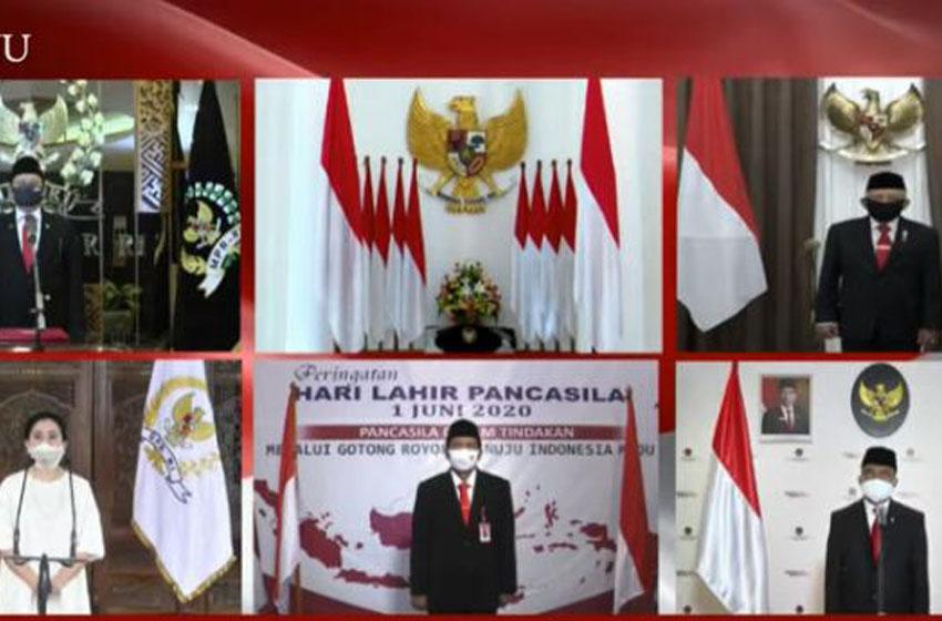 Upacara peringatan Hari Lahir Pancasila digelar secara virtual, Senin (1/6/2020)– Video youtube BPMI-Sekretariat Presiden