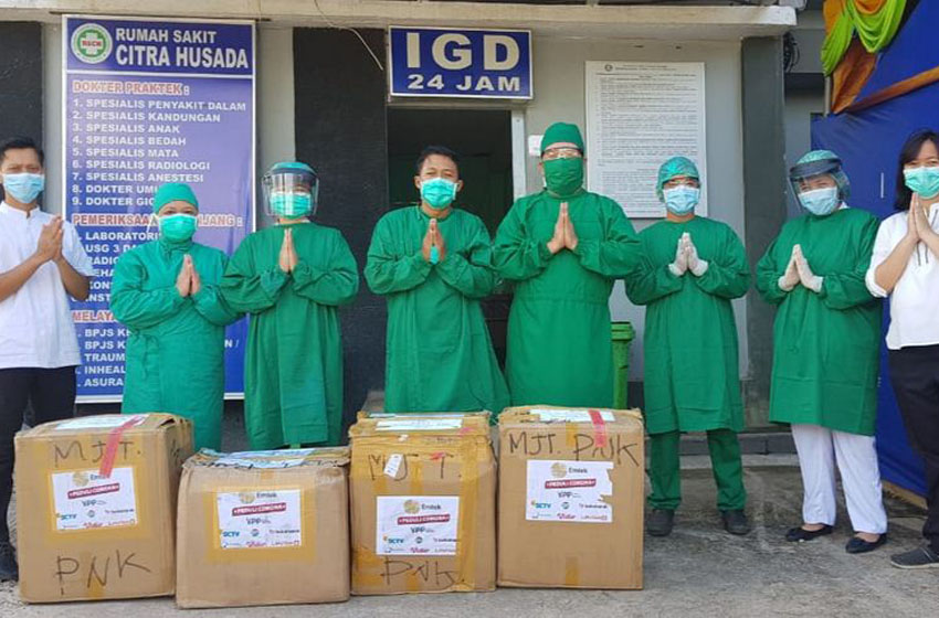 Emtek Peduli Corona Salurkan APD dan Paket Sembako