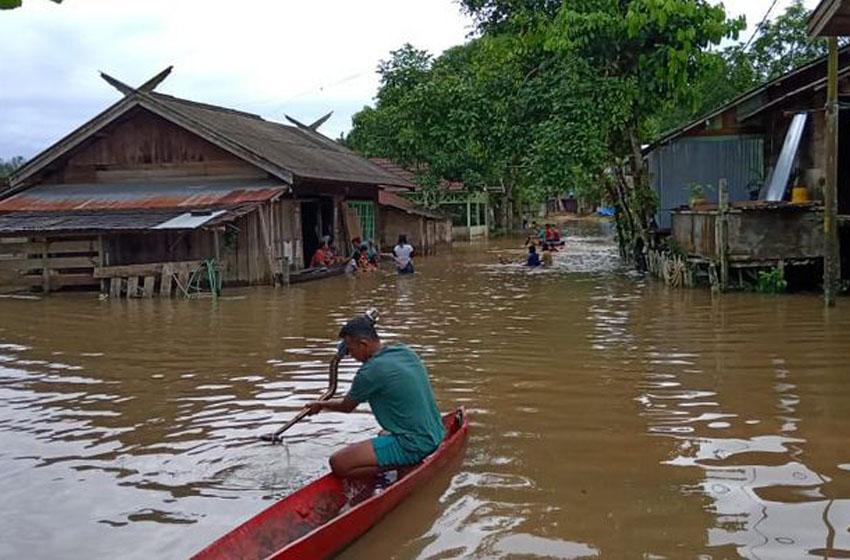Banjir yang terjadi di Kab. Lamandau, Provinsi Kalimantan Tengah (27/6) –foto BPBD Kabupaten Lamandau