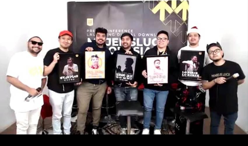Para pendiri Majelis Lucu Indonesia, ada produser dsn sutradara, ada penyanyi, ,ada host (foto : MLI).