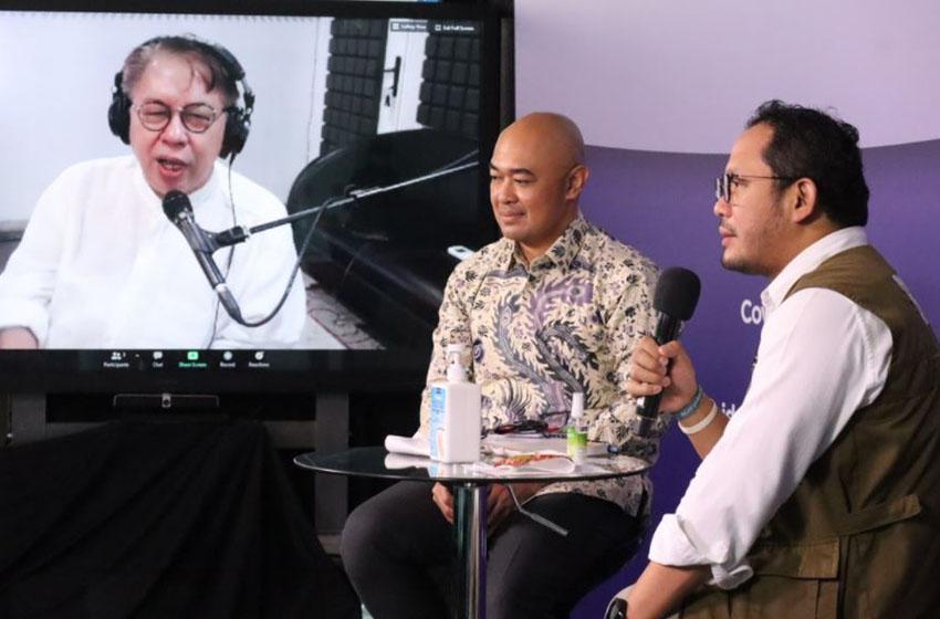Donny Hardono saat berdialog melalui ruang digital di Media Center Satuan Tugas Penanganan Covid-19, Jakarta, Kamis (27/8)–foto bnpb
