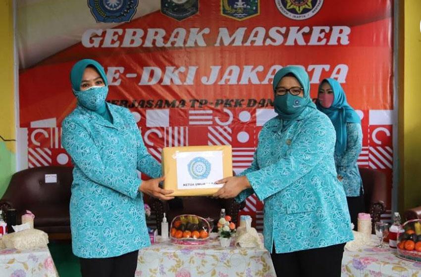 TP PKK Sumbang 1 Juta Masker untuk DKI Jakarta