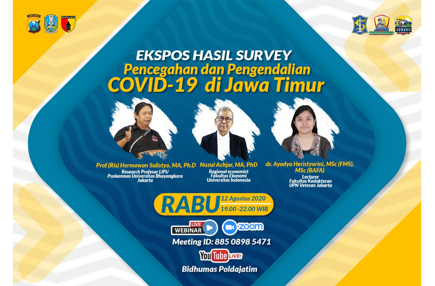 Malam ini, Prof Hermawan Sulistyo Paparan Publik Riset Covid-19 di Jatim