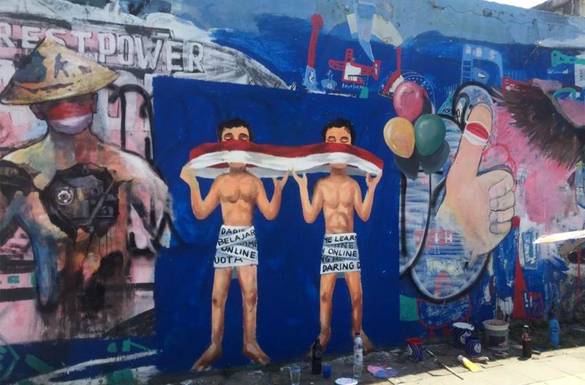 Mengenang Kemerdekaan Lewat Mural