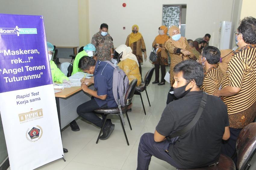Jurnalis Surabaya Dirapid Test