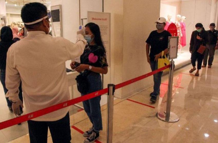 Ilustrasi–Penerapan Protokol Kesehatan di Mal di Jakarta— foto detik.com