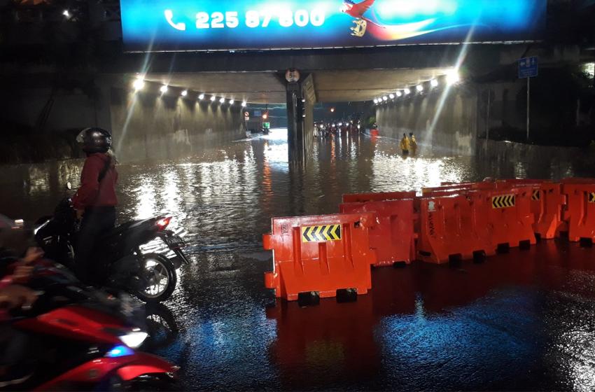 Hujan Tiga Jam, Sejumlah Ruas Jalan Tergenang