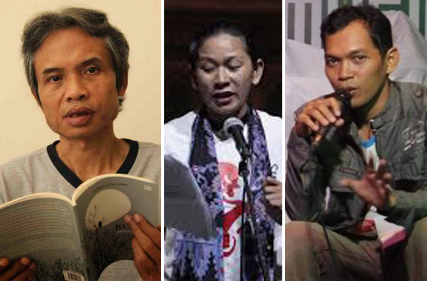 Joko Pinurbo, Nunung Deni Puspitasari, dan S Arimba. (ist)