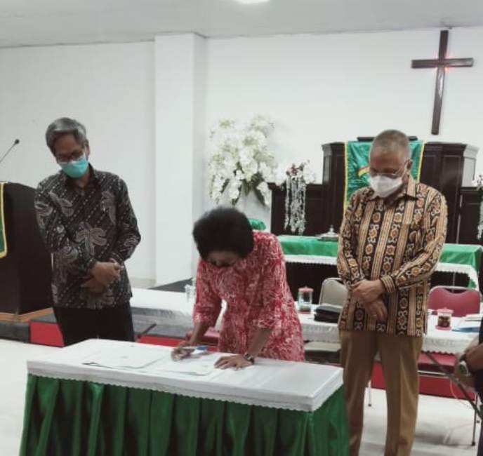 Meski Ilegal Kepemimpinan Majelis Sinode GPIB 2015-2020 Arogan Tetap Lakukan Sertijab Ketua Majelis Jemaat GPIB