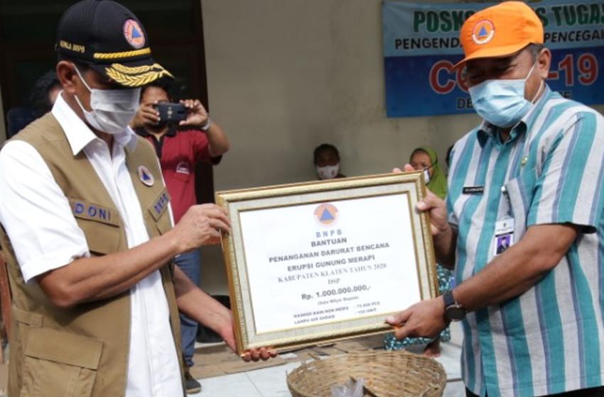 BNPB Beri Bantuan 1 Miliar untuk Empat Kabupaten Zona KRB Gunung Merapi