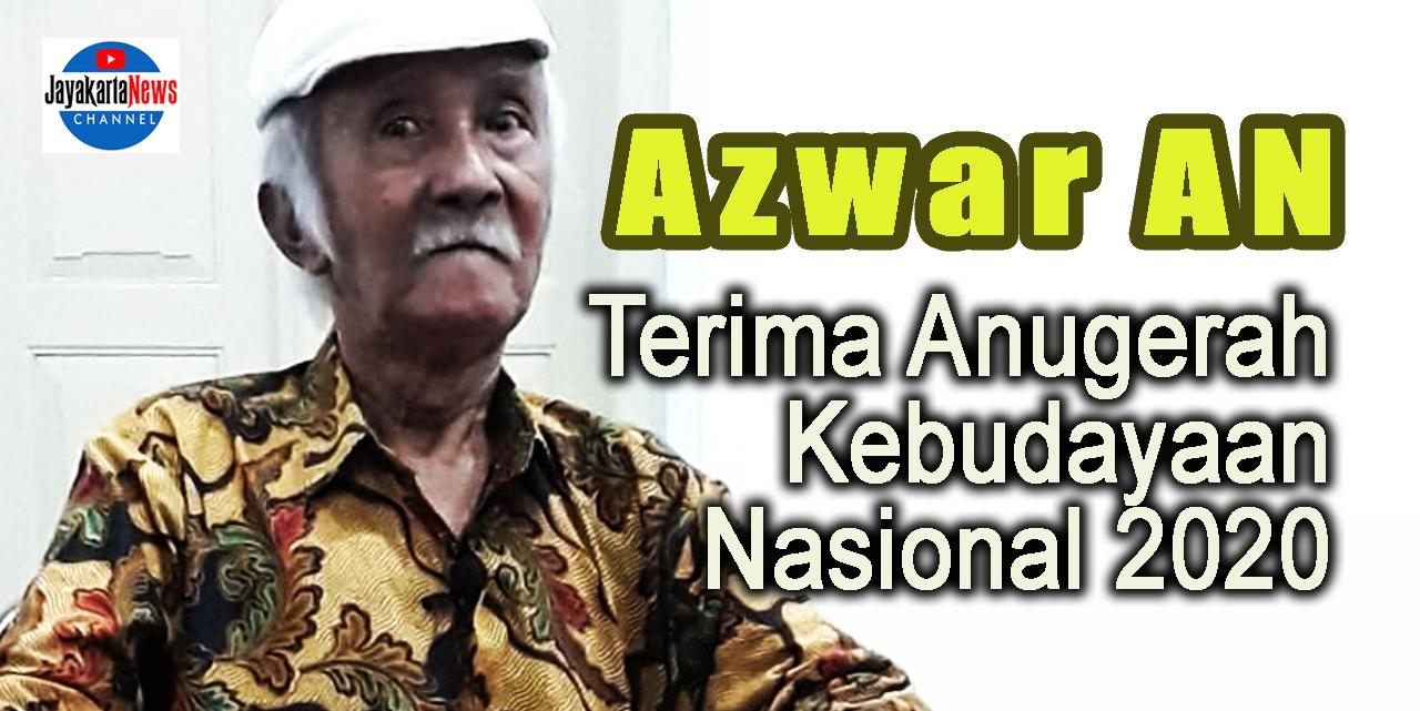 Azwar AN Terima Anugerah Kebudayaan Nasional 2020