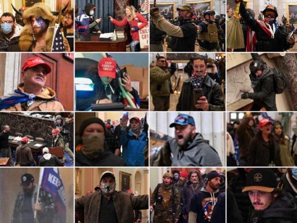 Polisi Rilis Foto Buron, Enam Anggota Parlemen Ada di Antara Perusuh di Capitol