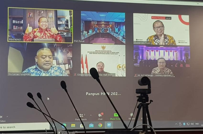 Presiden Joko Widodo Hadir Virtual pada HPN 2021