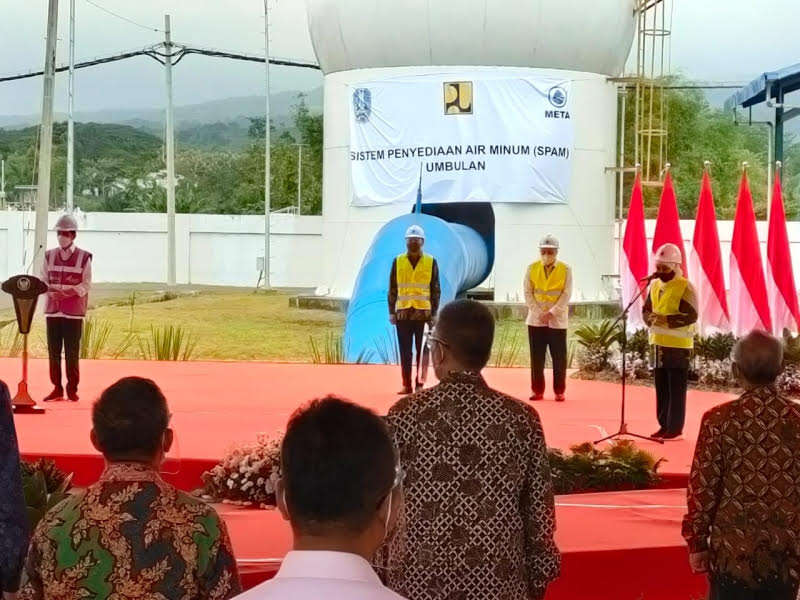 Presiden Jokowi Resmikan SPAM Umbulan Pasuruan