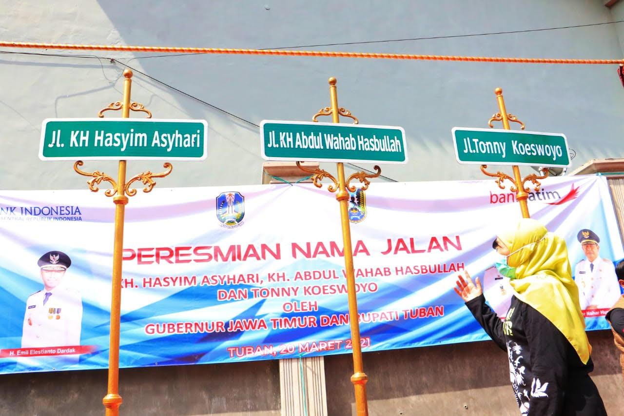 Diresmikan, Tiga Nama Jalan Baru di Tuban