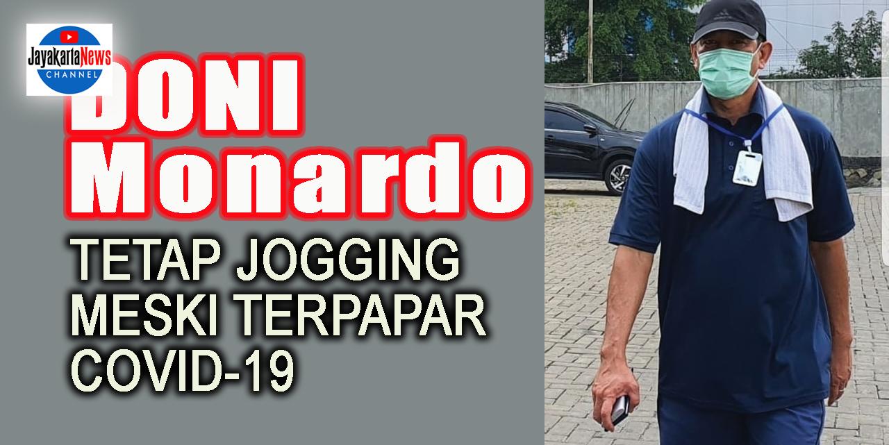 Doni Monardo Tetap Jogging di Saat Isolasi Mandiri