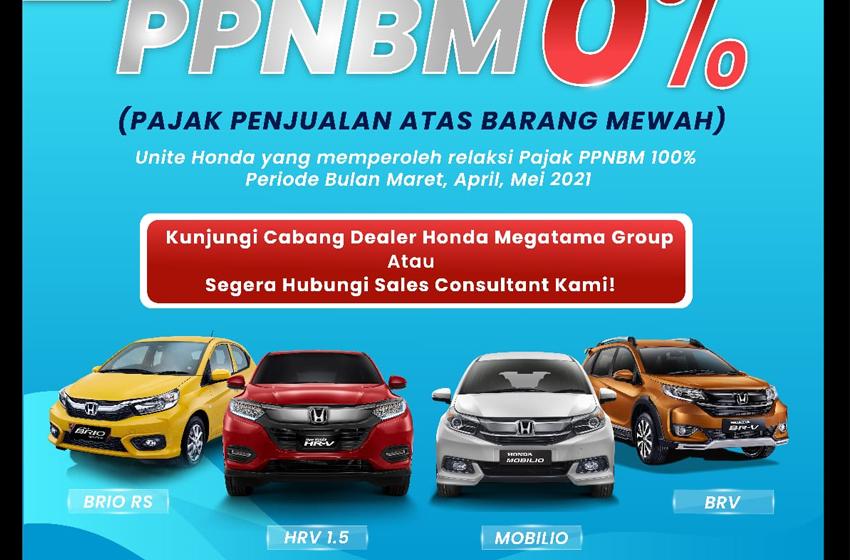 Empat Type Mobil Honda PPnBM Nol Persen