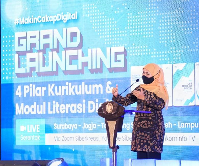 Kominfo Luncurkan 4 Pilar Kurikulum dan Modul Literasi Digital Nasional