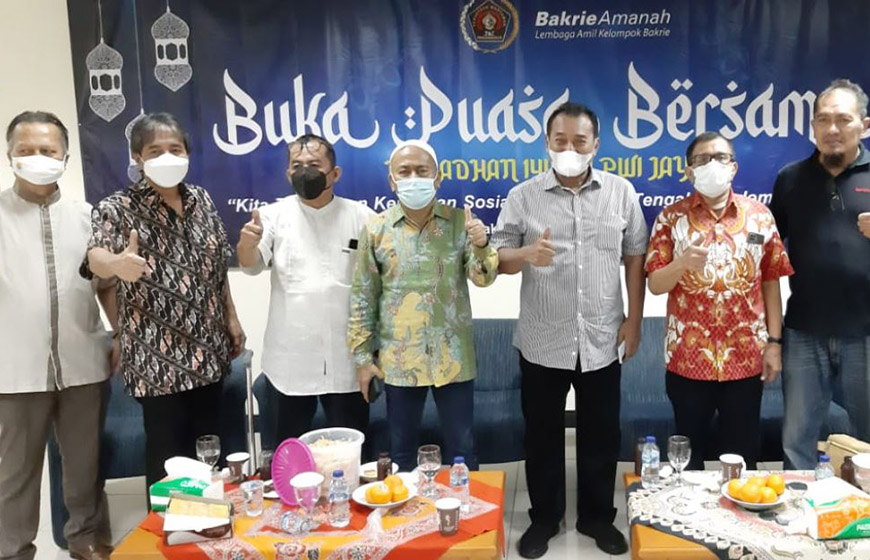 Bukber PWI Jaya dan Santunan Bakrie Amanah