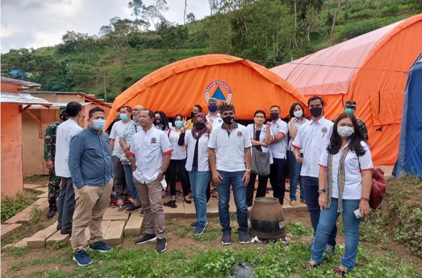 GM se-Malang Raya Menembus Gunung Menyapa Korban Longsor Brau di Kota Batu