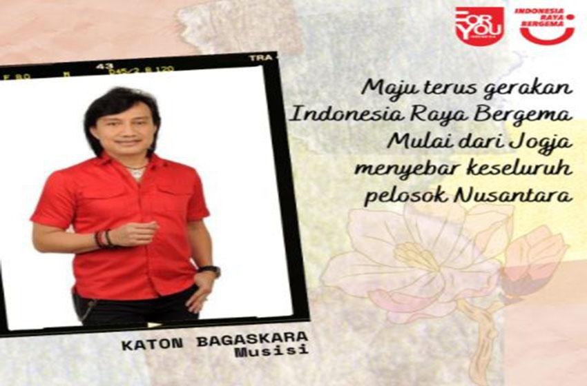 Artis Nasional Ramai-ramai Dukung Indonesia Raya Bergema