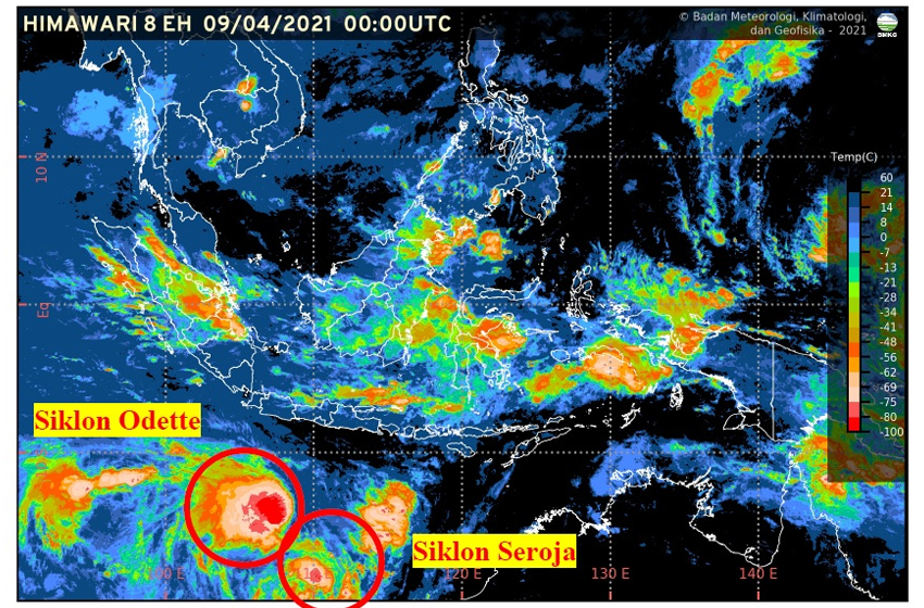 Selain Seroja, BMKG Minta Waspadai Dampak Siklon Tropis Odette
