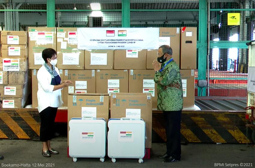 Indonesia Kirim Bantuan Penanganan Pandemi Covid 19 ke India