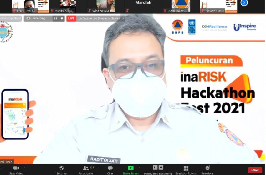 BNPB Launching inaRISK Hackathon Fest 2021