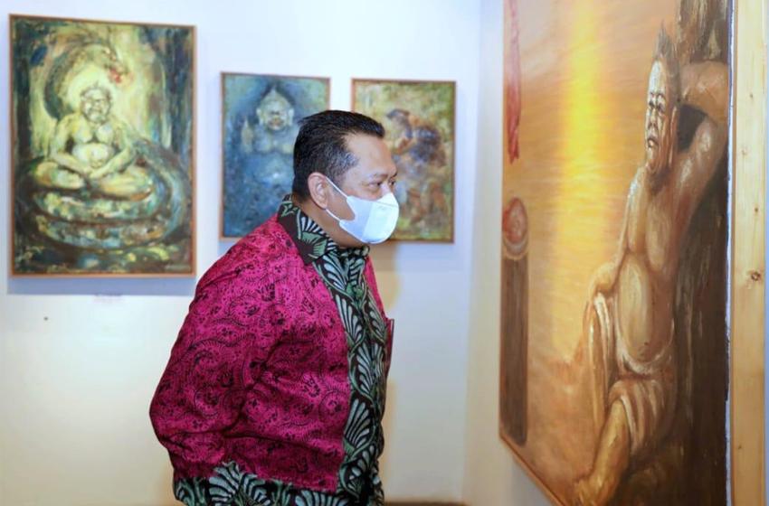 Bamsoet Buka Pameran Lukisan 'Semar Ngruwat Jagad'