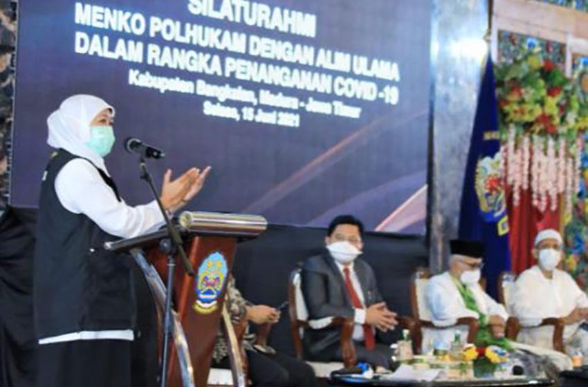 Pemprov Jatim Libatkan Kyai dan Tokoh Masyarakat untuk Putus Rantai Penularan Covid-19